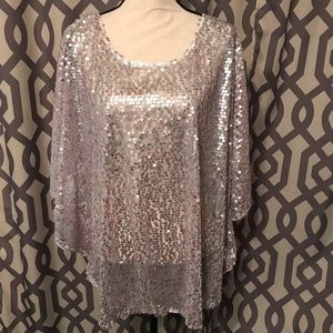 Tops - Plus Size mermaid sequin top from Zulily, sz 18/20
